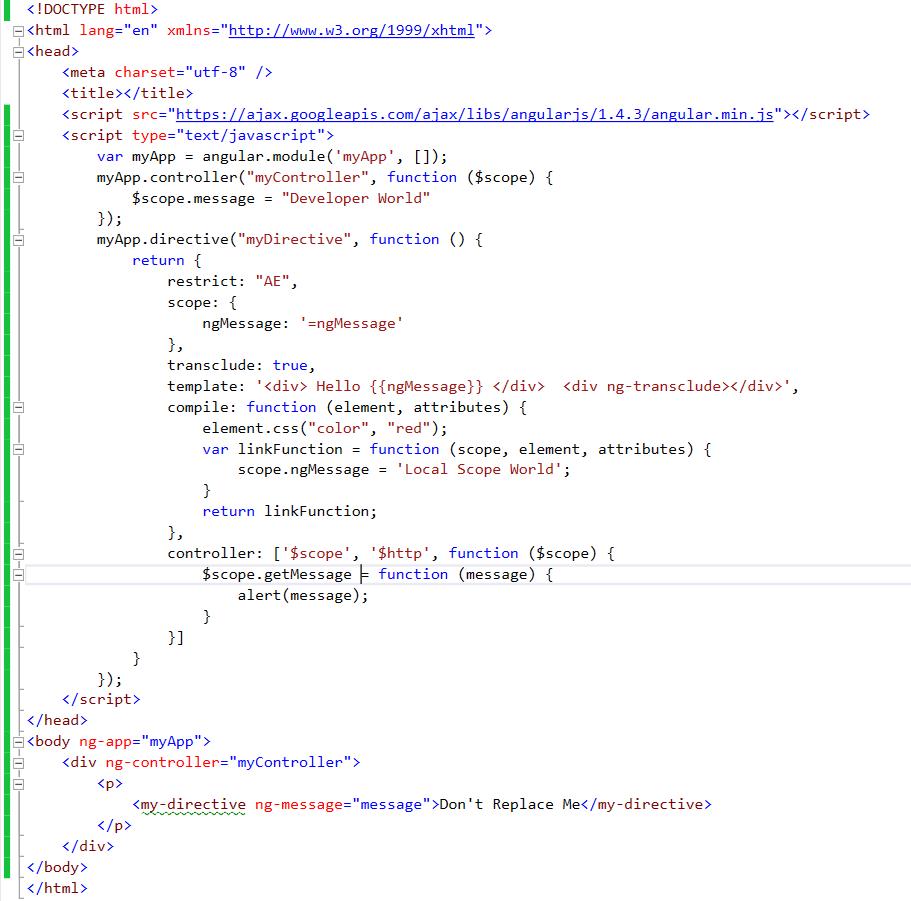 Angular js understanding custom directive fundamentals veepools link and compile function code maxwellsz
