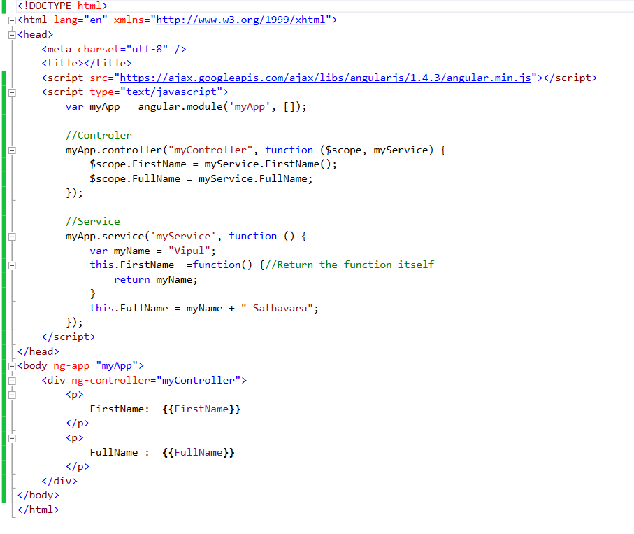 Angular Js Introduction Of Various Service Types Constant Value